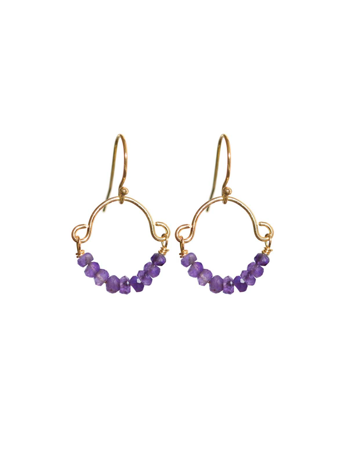14K Gold-filled earrings Amethyst