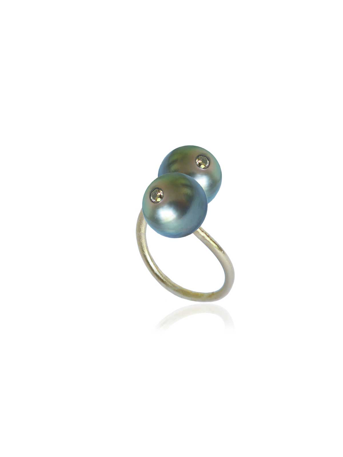 BOUDOIR ring Tahitian Pearl Brown Diamond