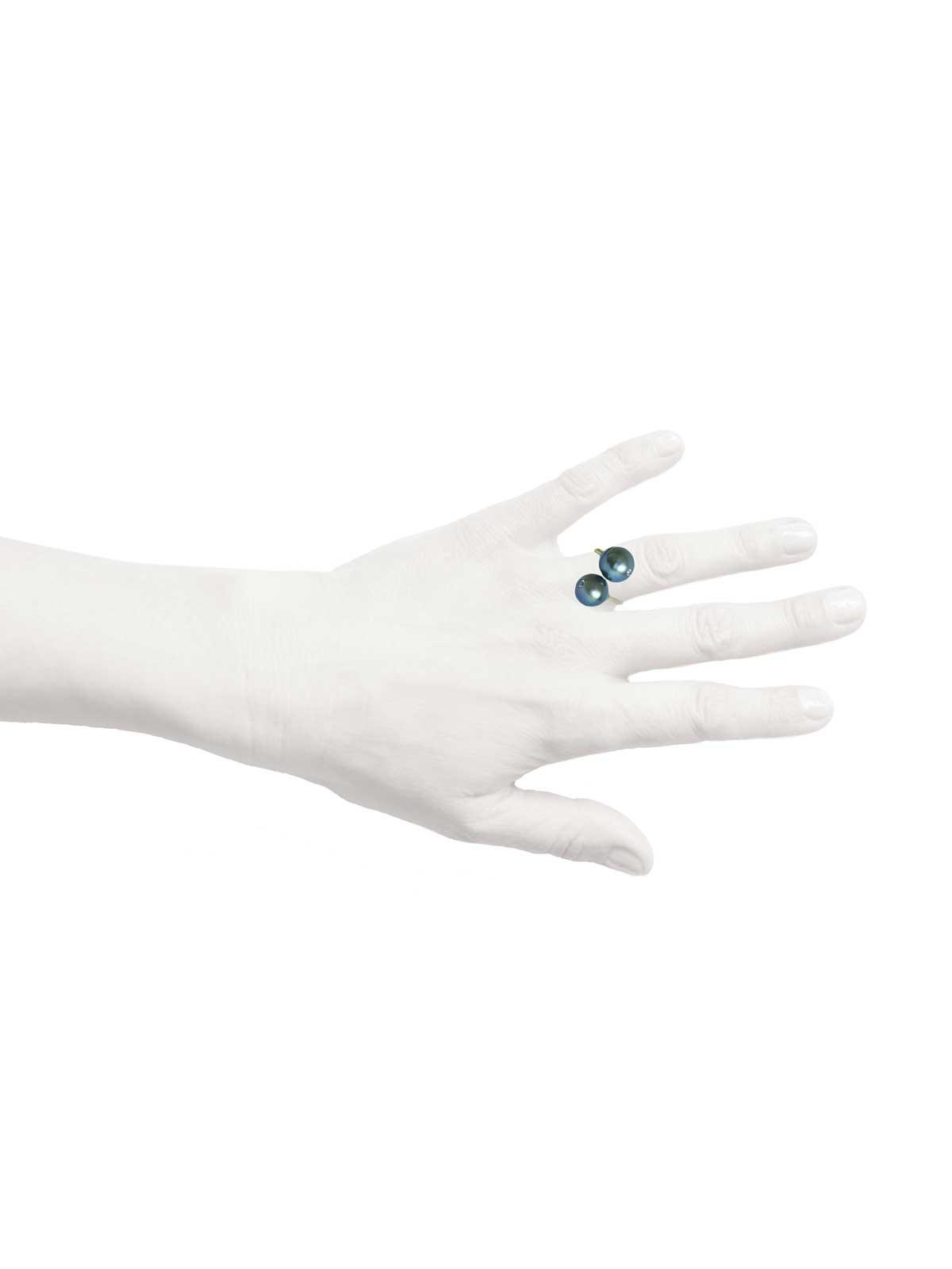 BOUDOIR ring Tahitian Pearl Brown Diamond