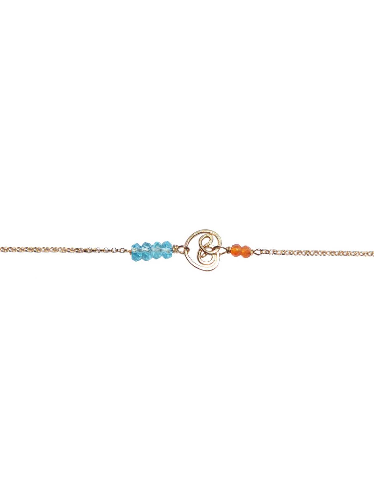 Bracelet Gold Carnelian Apatite