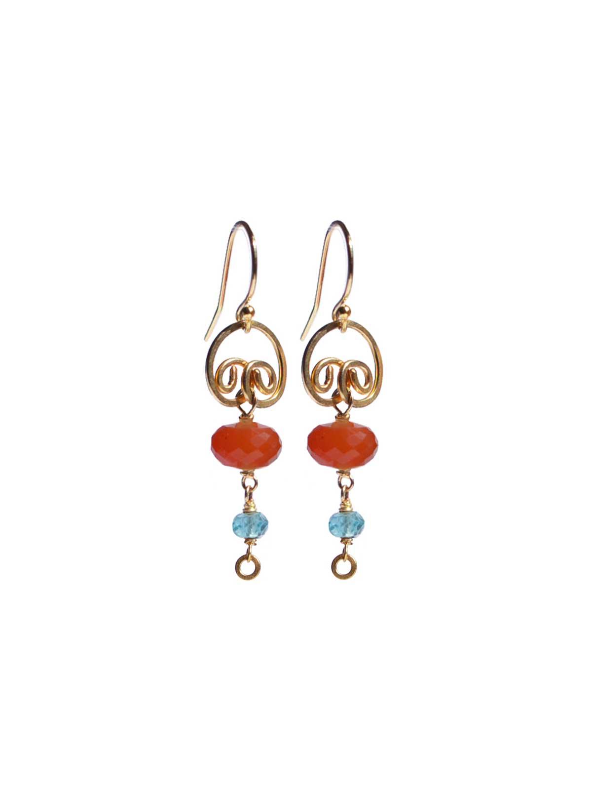 Carnelian Apatite earrings 14K Gold-filled