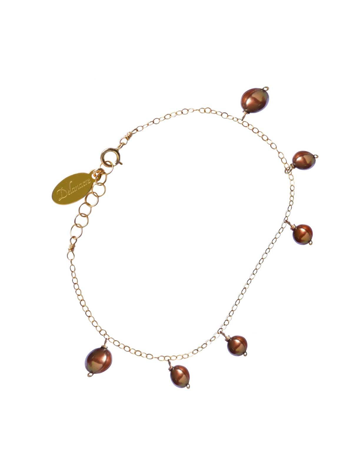 Bracelet 14K Gold-filled chain GOLDEN PEARL