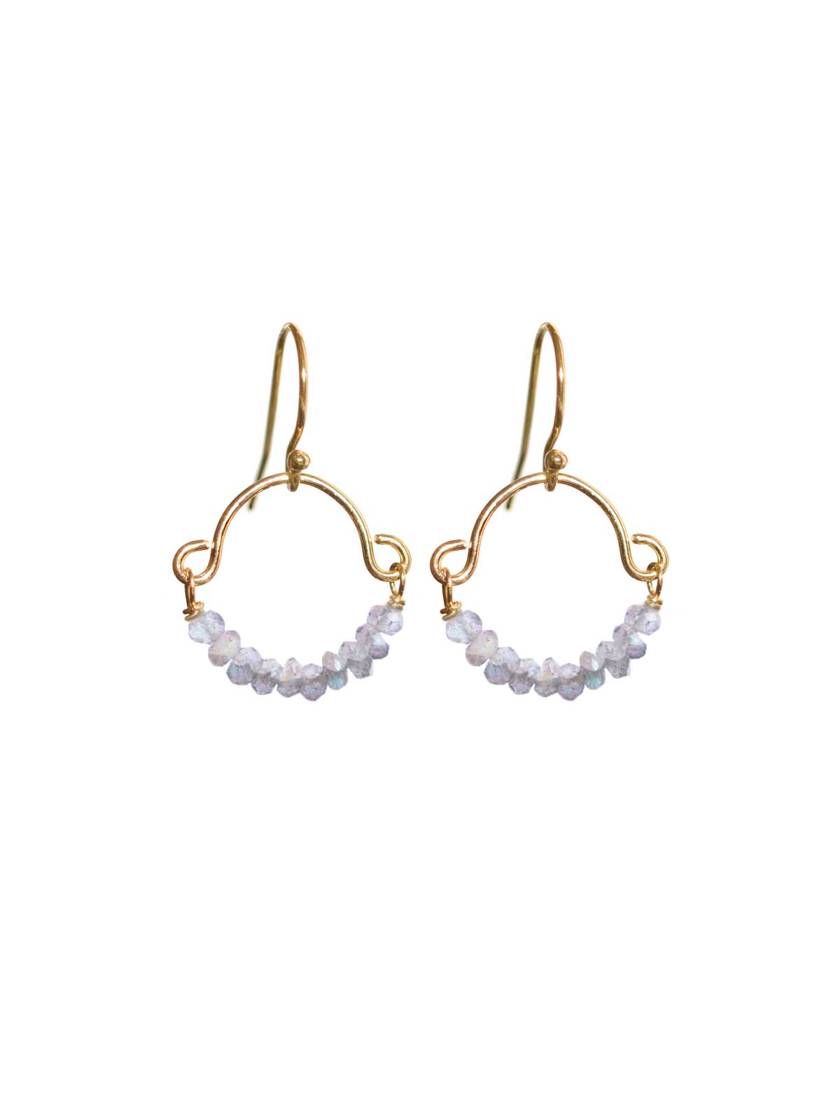 Earrings14K Gold-filled with faceted Moonstone