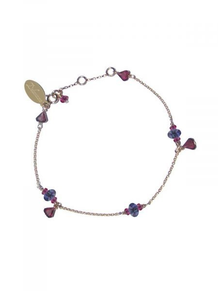 Bracelet Gold-filled 14 Karat with Garnet and Iolite