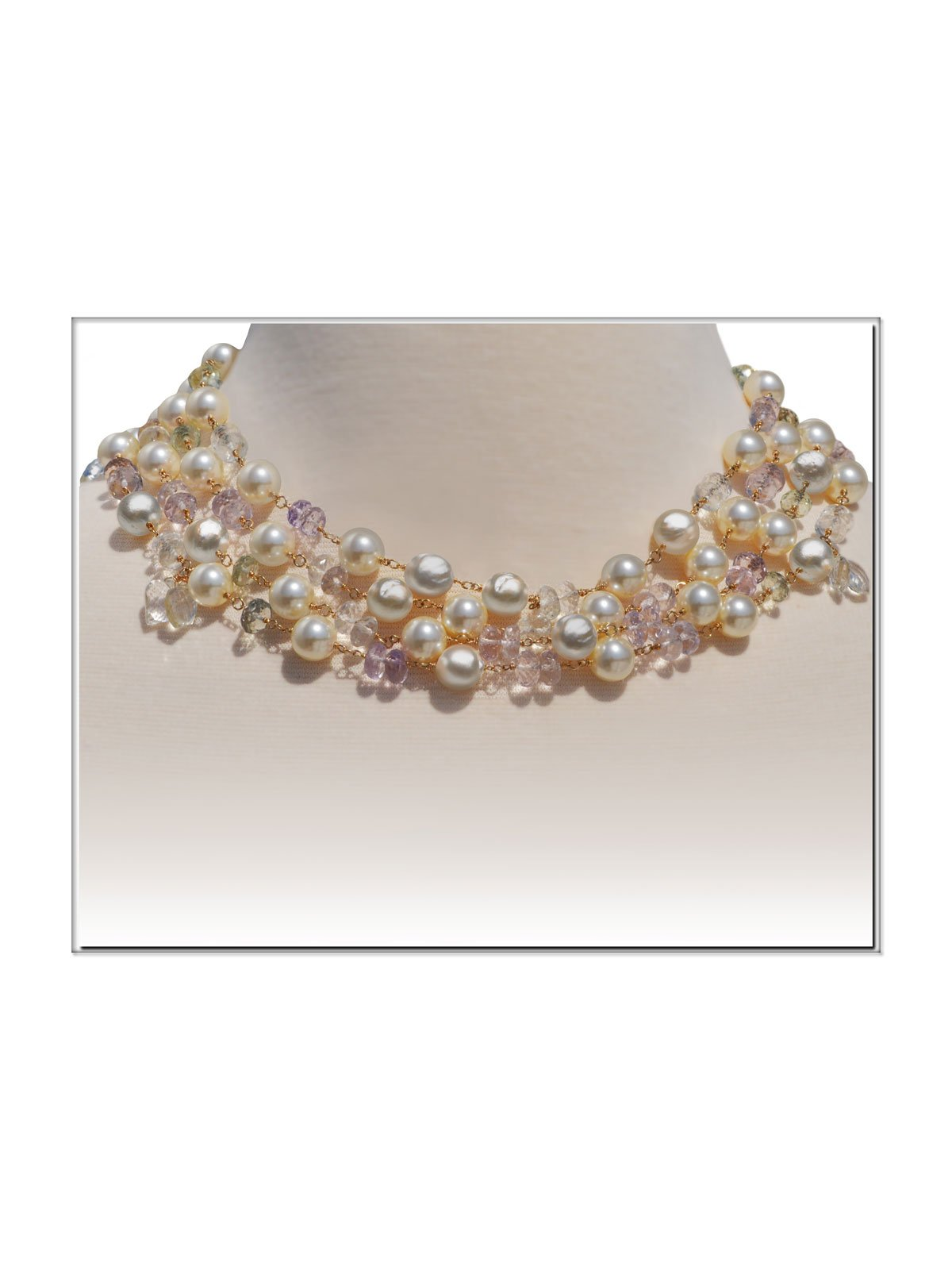 Delanacre, South Sea Pearl OPÉRA NECKLACE 14K Yellow Gold