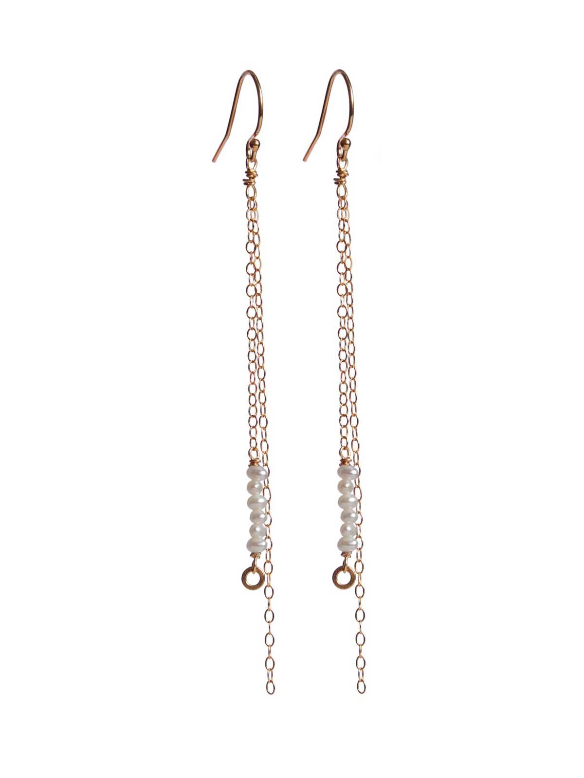 Earrings 14K Gold-filled white Freshwater Pearl