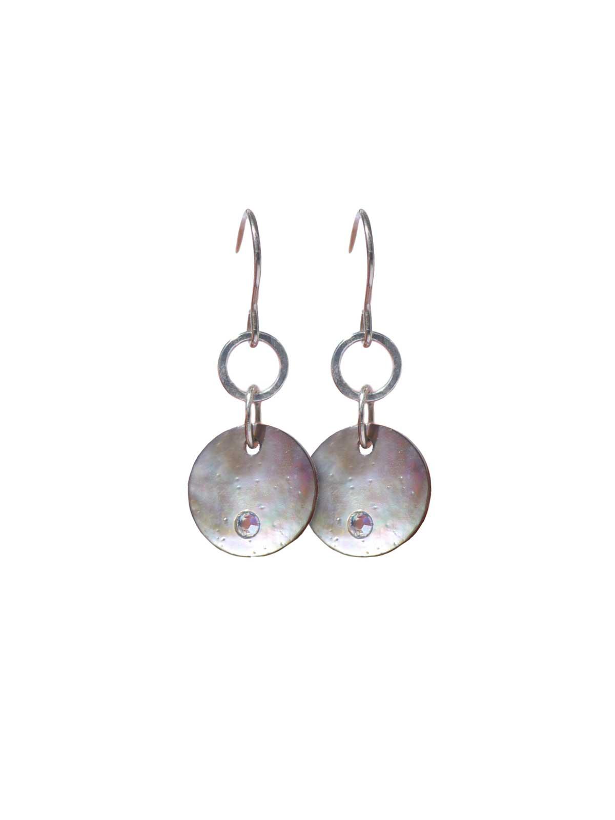Earrings Sterling Silver Mother-of-pearl Swarovski crystal