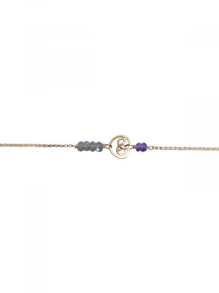 Bracelet Gold Labradorite Amethyst