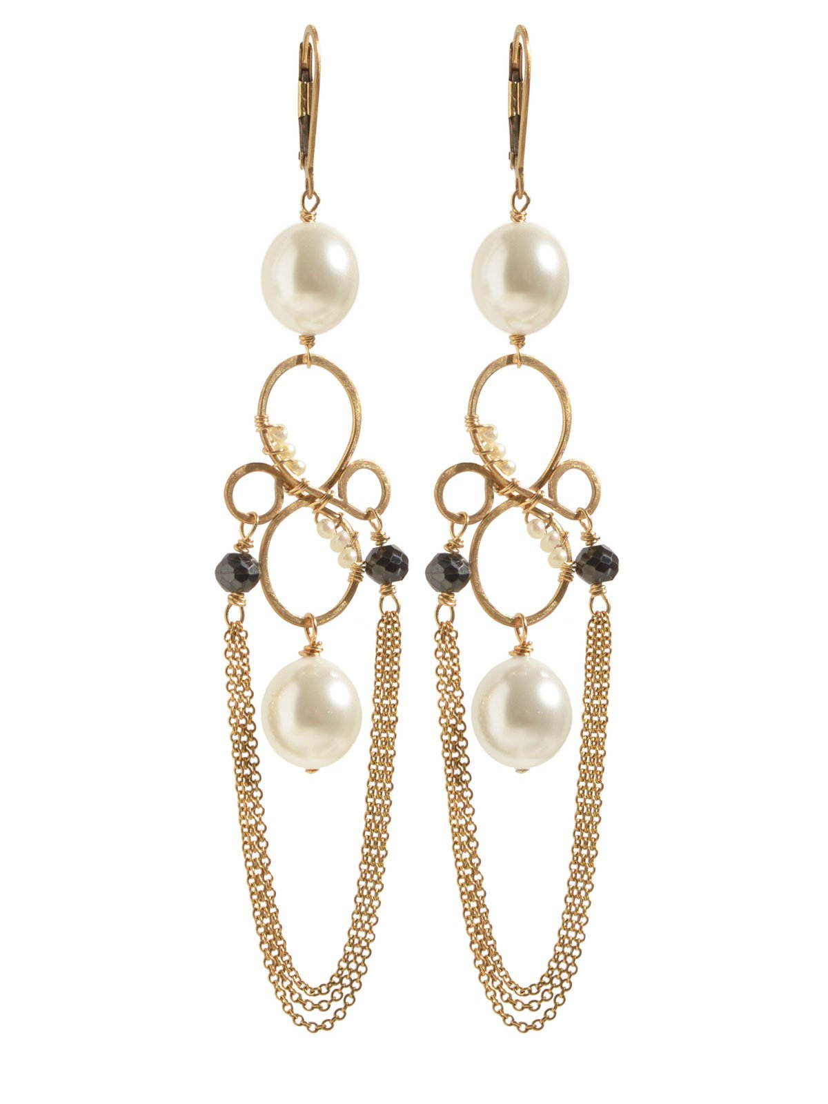 Delanacre, South Sea Pearl CAVIAR DORMEUSES 14K Yellow Gold