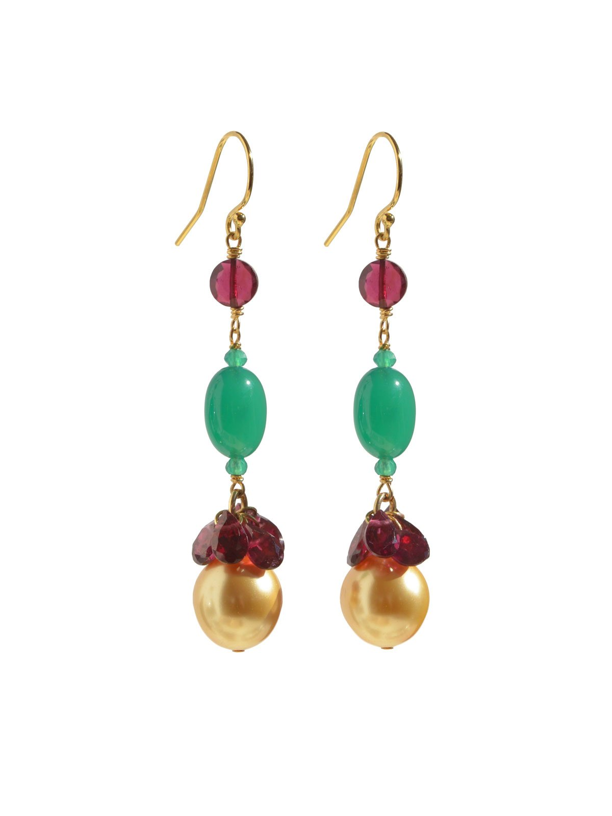 Delanacre, South Sea Pearl COCO BOHÈME EARRINGS 14K Yellow Gold