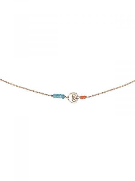 corail Necklace Gold Carnelian Apatite