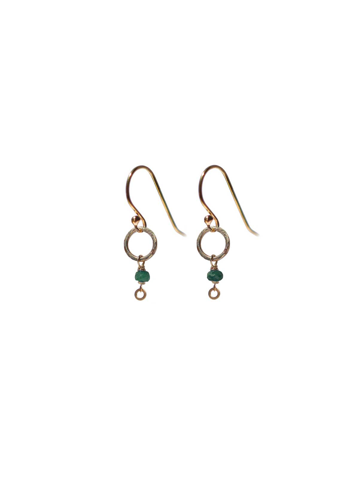 Earrings Gold-filled 14 Karat and Emerald