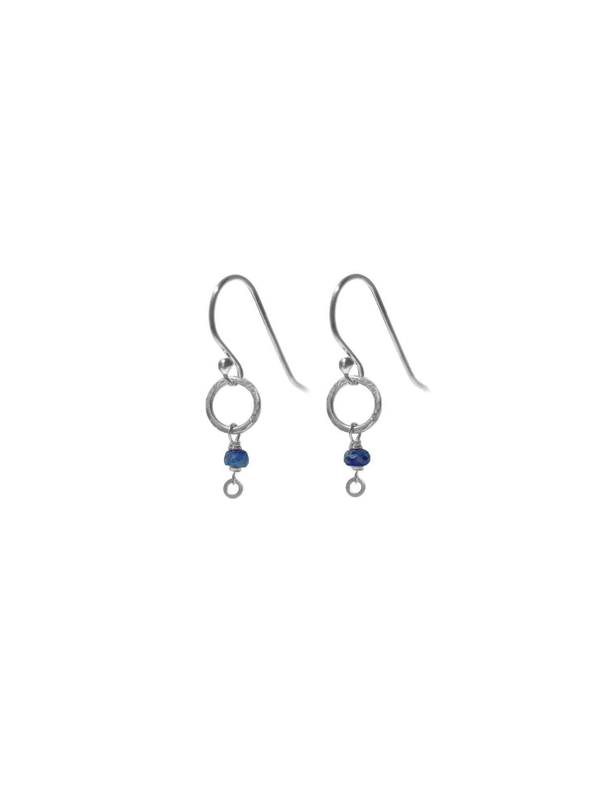 Earrings in Sterling Silver and Sapphire