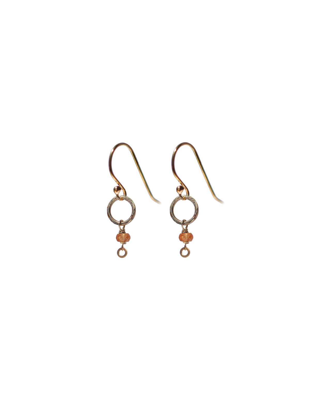 Earrings Gold-filled 14 Karat and Yellow/Orange Sapphire