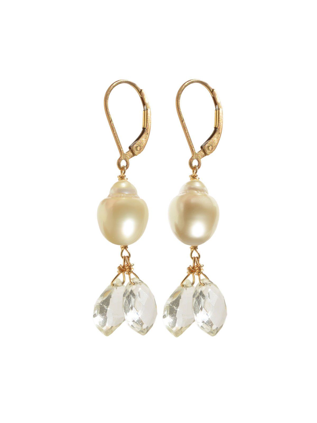 Delanacre, South Sea Pearl OPÉRA EARRINGS 14K Yellow Gold